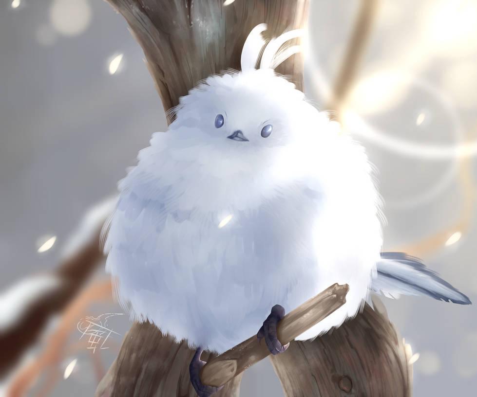 Snowy Birb by xSOULKAZEx