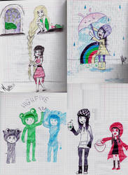 Random Class doodles by MaikaKoalaDraws