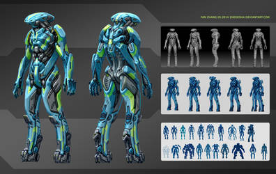 Alien enemy for After Us, O3 by icedestroyer