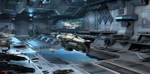 Enigma Hangar by icedestroyer
