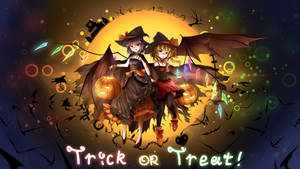 Remilia, Flandre (Halloween) by tauminust
