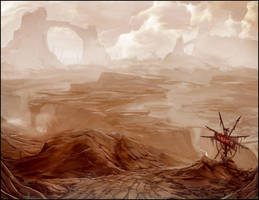 desert cliffs by Bradwhitlam