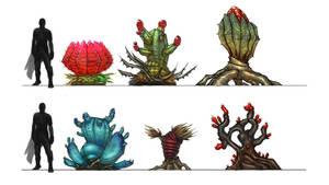 Sci Fi Plants by Bradwhitlam