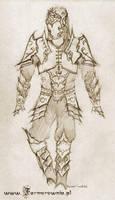 Drow Armor sketch by farmerownia