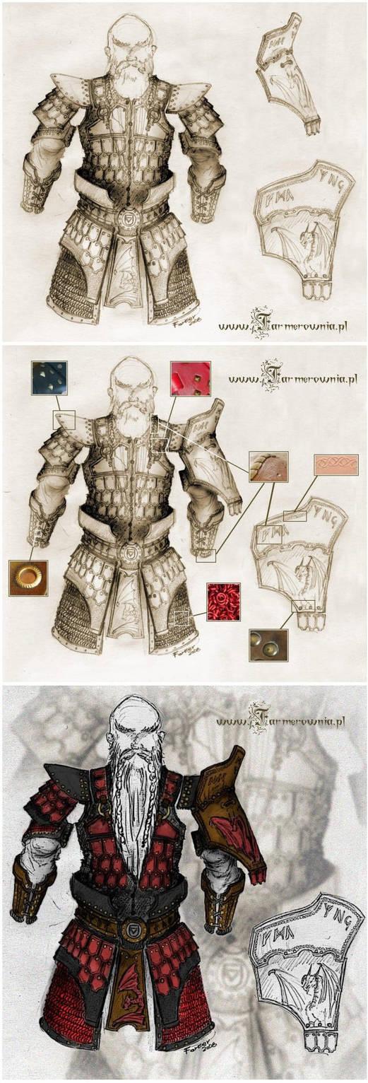 Dwarf Armor Full concept by farmerownia