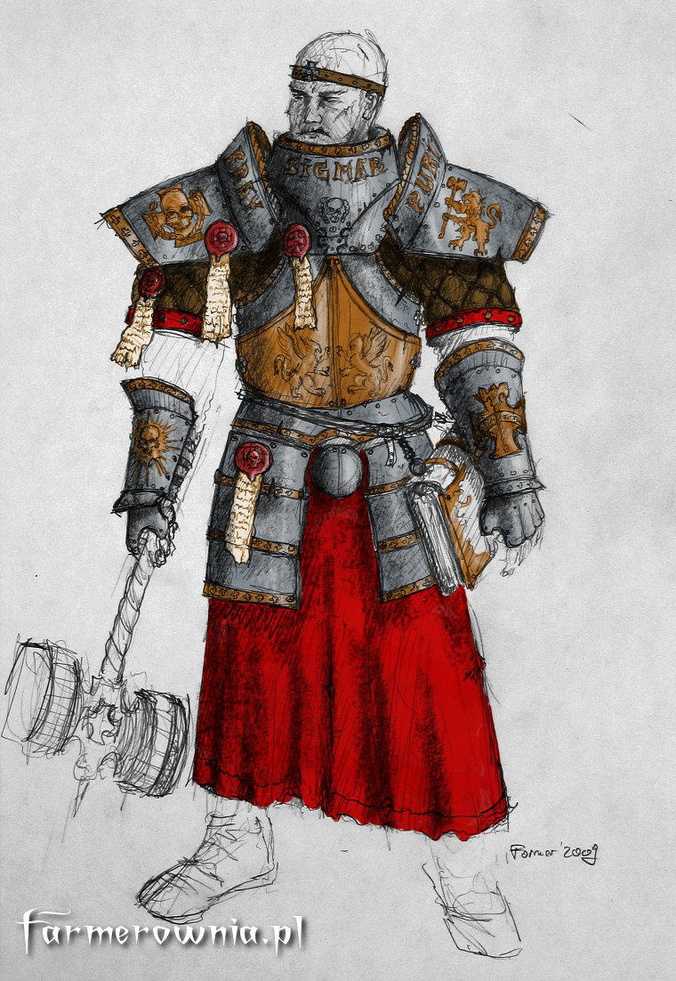 Sigmar Priest armor concept by farmerownia
