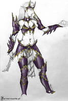 Dark Elf Witch-Druchii concept by farmerownia