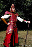 Fire elf - with long sword by farmerownia
