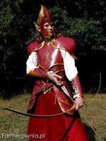 Fire elf -  bow is ready by farmerownia