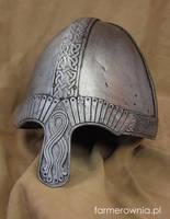 Norman Helmet -  front by farmerownia