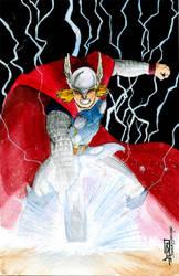 Thor watercolor by giberwitz