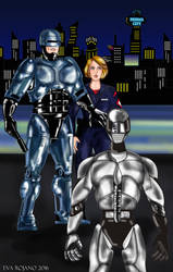 RoboCop and Lewis face new cyborg enemy by amazona2016