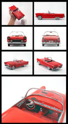 Ford Thunderbird 1955 - paper model by Rubenandres77