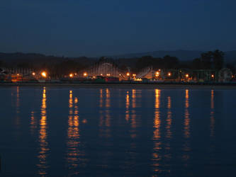 Nightfall on the Boardwalk by Vinator