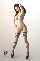 Fl0Xo - WhiteRoom High Heels Poster by Candy-L-Lan