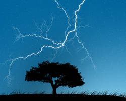 Tree in the storm by Vreckovka
