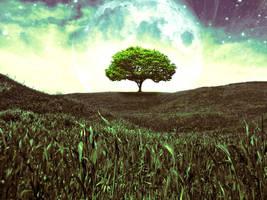 Tree in fantasy world by Vreckovka