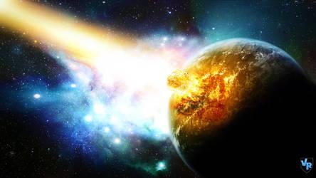 Meteor crash planet by Vreckovka