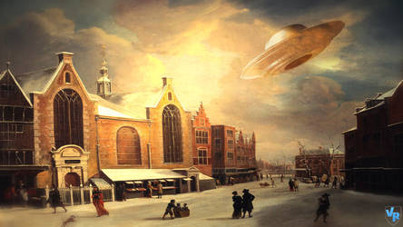 UFO at painting by Vreckovka