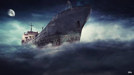 Ship in sky by Vreckovka