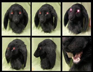 Evil Black Bunny by FeralFacade