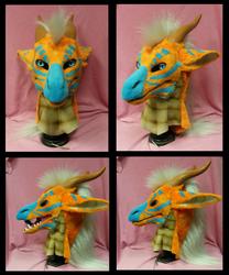 Orange dragon turnaround by FeralFacade