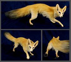 Fennec Fox OOAK doll by FeralFacade