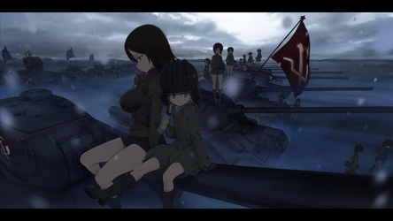 Girls und Panzer pravda high school by MARSHAN-tori
