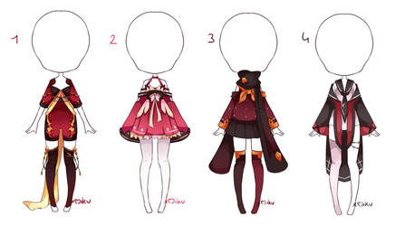 {Closed} Outfit 66 - 67 - 68 - 69 by xMikuChuu