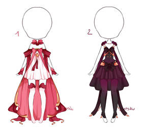 {1/2 Open} Auction Outfit 250 - 251 by xMikuChuu