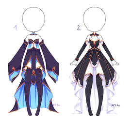 {Open 1/2} Auction Outfit 342 - 343 by xMikuChuu