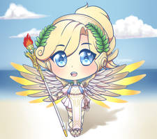 Overwatch Mercy (Winged Victory) chibi by star-nemesis
