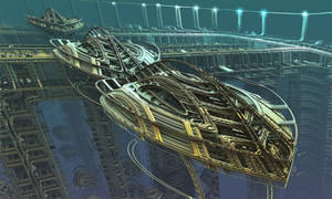 Space Cruiser Assembly Line by eclecticeric