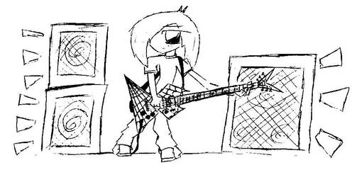 Chibi Guitar by whodied