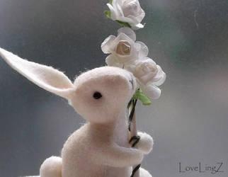 White rose rabbit by LoveLingz