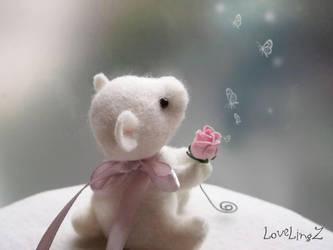 Tiny Baby polar teddy by LoveLingz