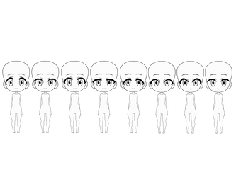 Some Kisekae Chibi bases (UPDATED) by SRM-Will-Never-Die