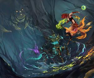 LoL - Digi Art Contest - King of the Treeline by Nyanfood