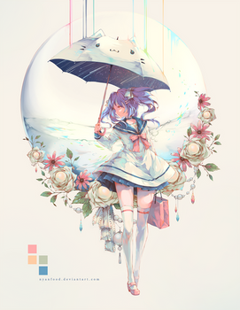 No Flowers Without Rain by Nyanfood