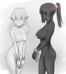 Marble Elf and Granite Elf by L-exander909