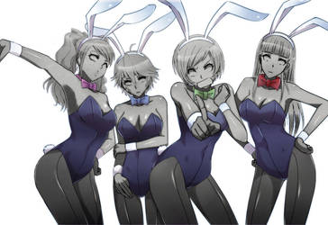 Petrified Bunny Girls by L-exander909