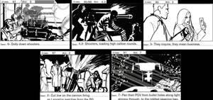 CSI Storyboard Frames by Adobewan