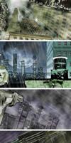Superhero City by Adobewan