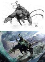 Fenris and Loki by Adobewan