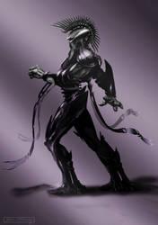 Alien Warrior Study by Adobewan