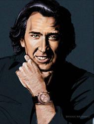 Nicolas Cage by Adobewan