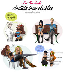 Collab : Les amities improbables des Nombrils by Campanita42