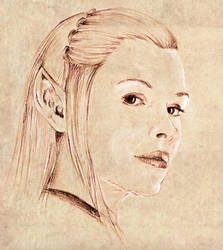 Tauriel sketch by vanora13
