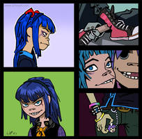 Gorillaz -Concept of character by iricolor