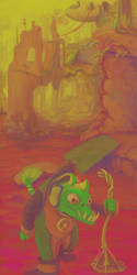 artfight - cleaner of the purple desert by AlfaLunar